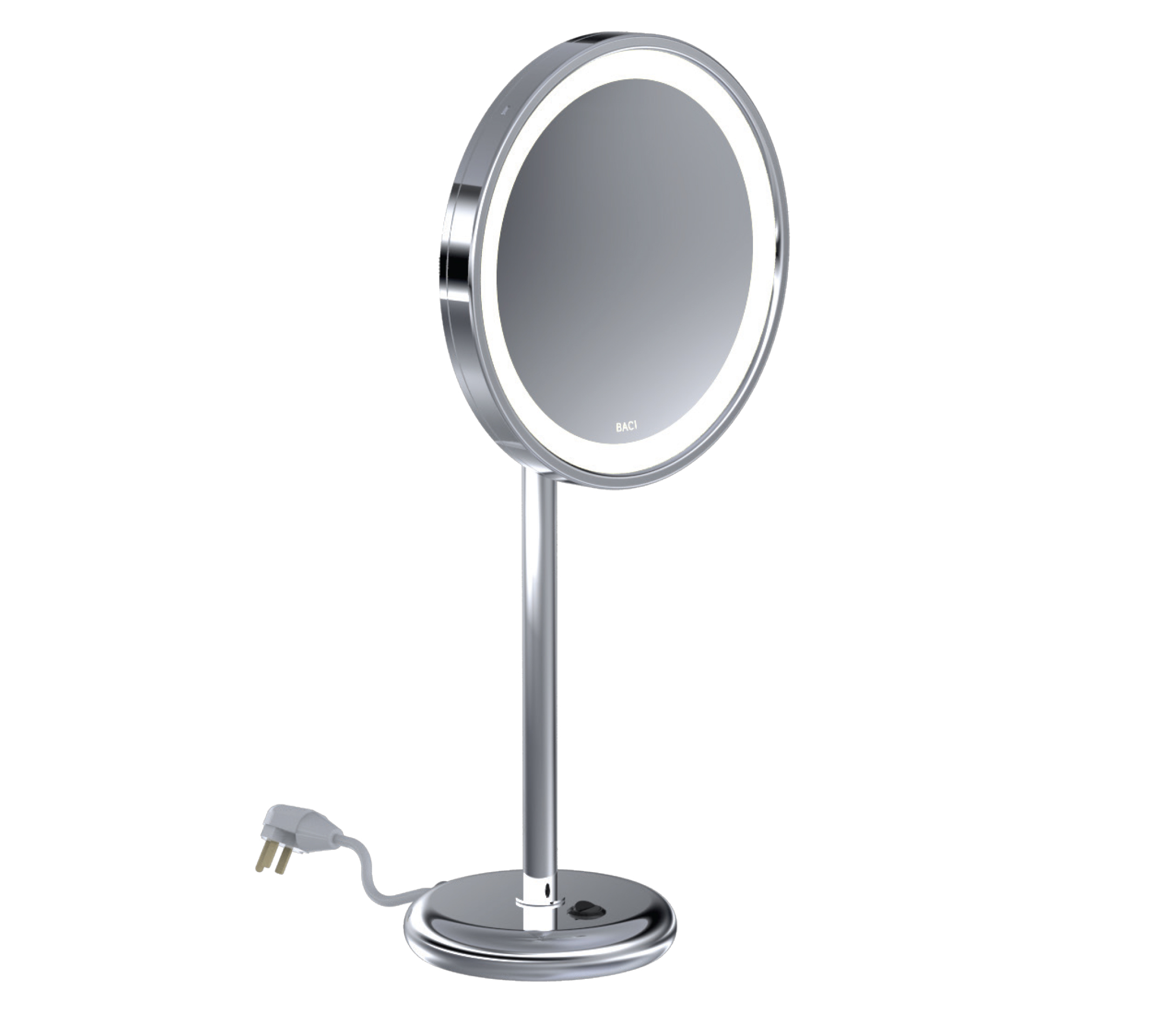 This Clic Tall Countertop Led Mirror Features A Large Round Base For Use On Any Dressing Table The Head Swivels Left To Right And Tilts Up